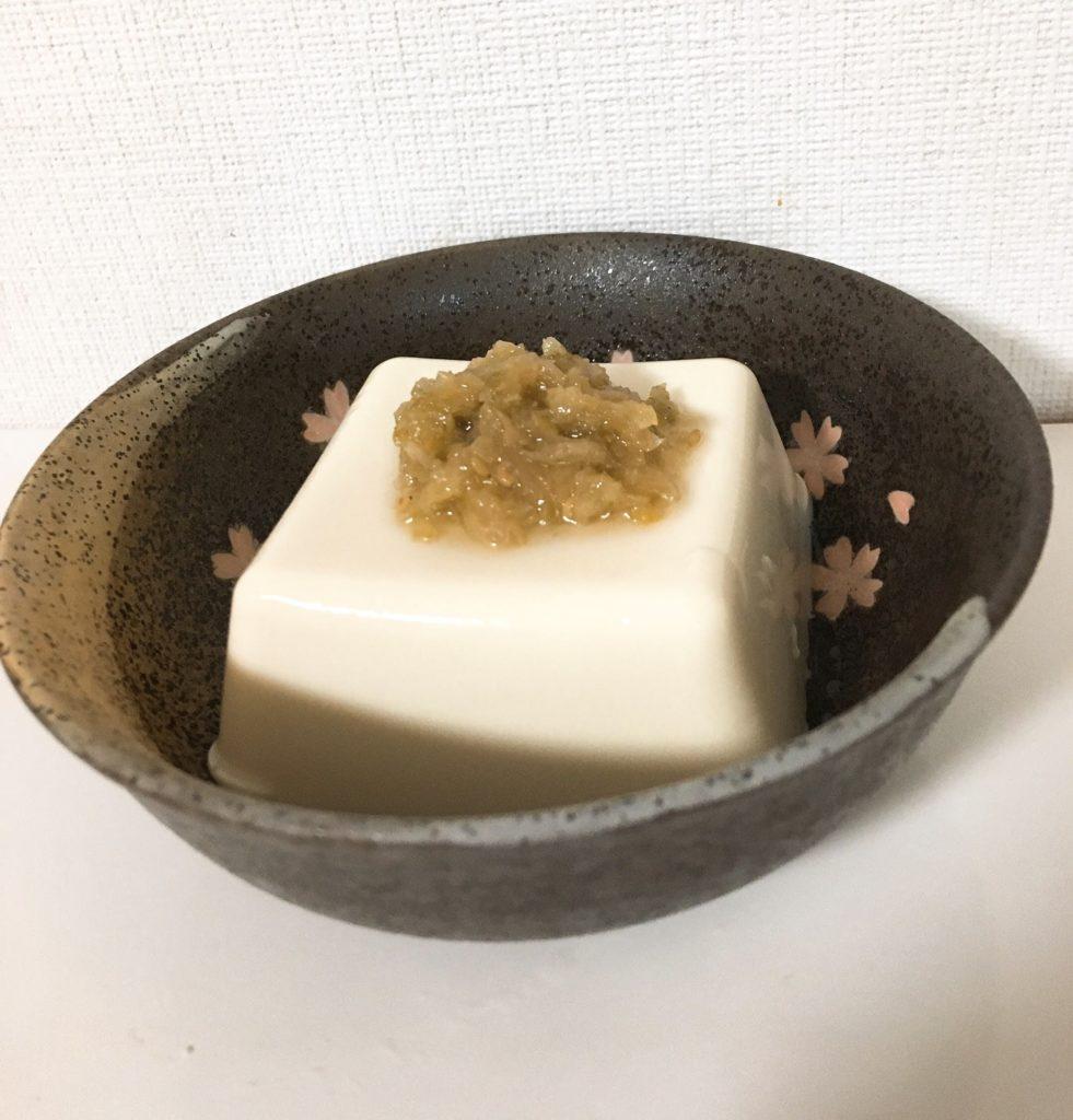 塩葱醤 豆腐
