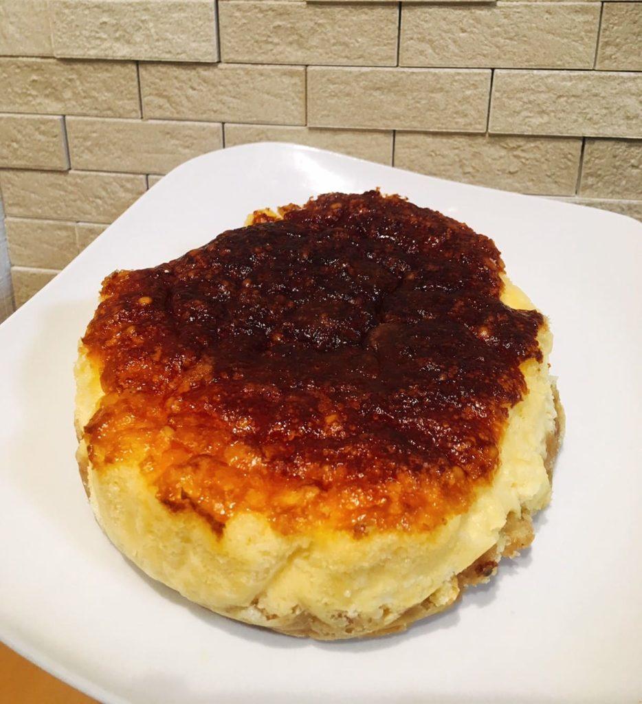 チーズケーキ焼き上がり