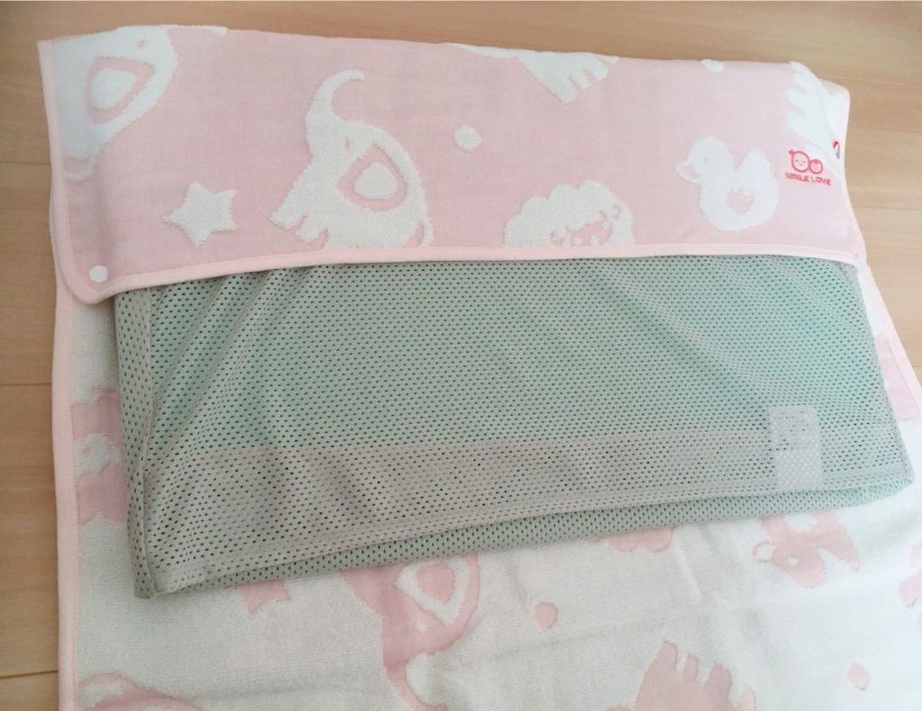枕カバー装着