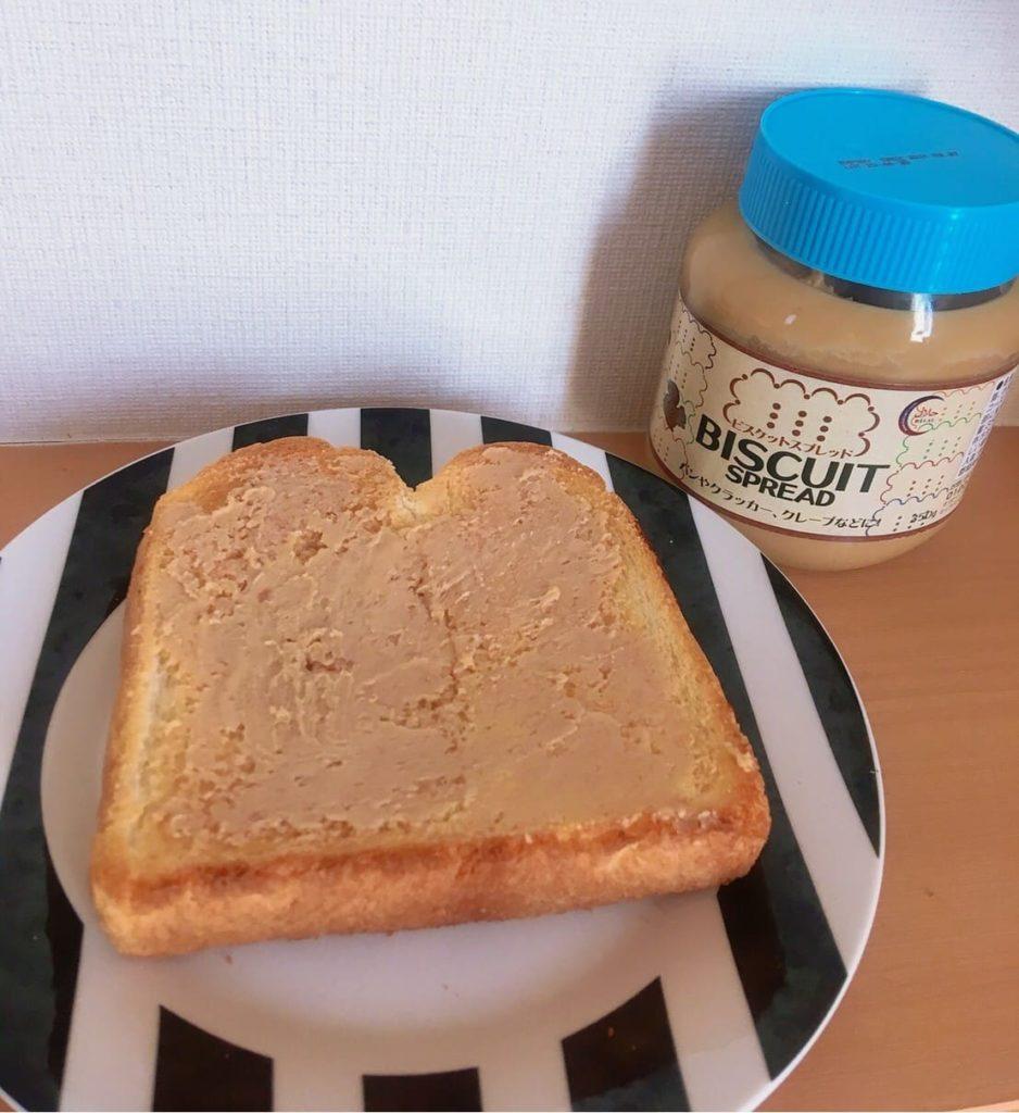 ビスケットスプレッド食パン