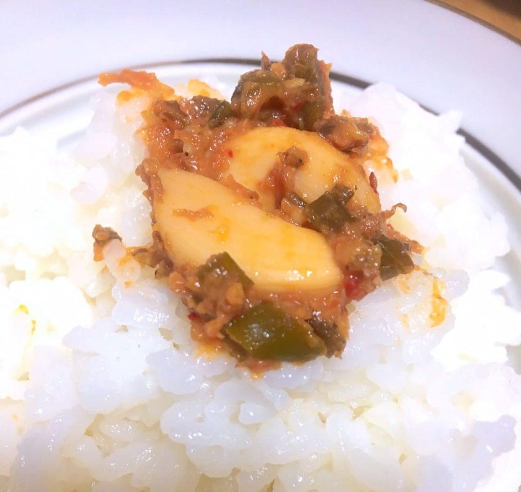 青唐辛子入り味噌ニンニクご飯