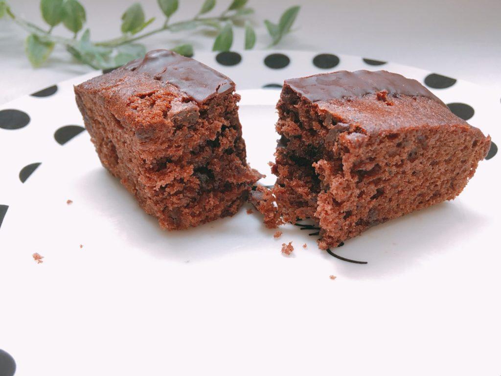 ダブルチョコケーキ中
