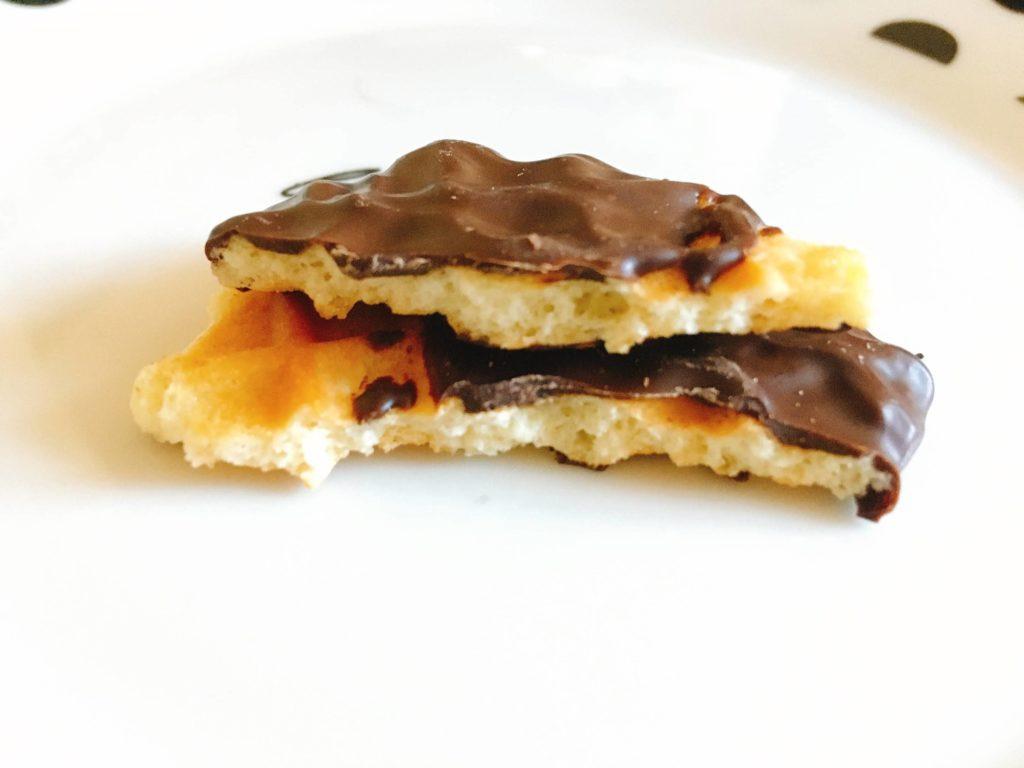 チョコレートバターワッフルカット