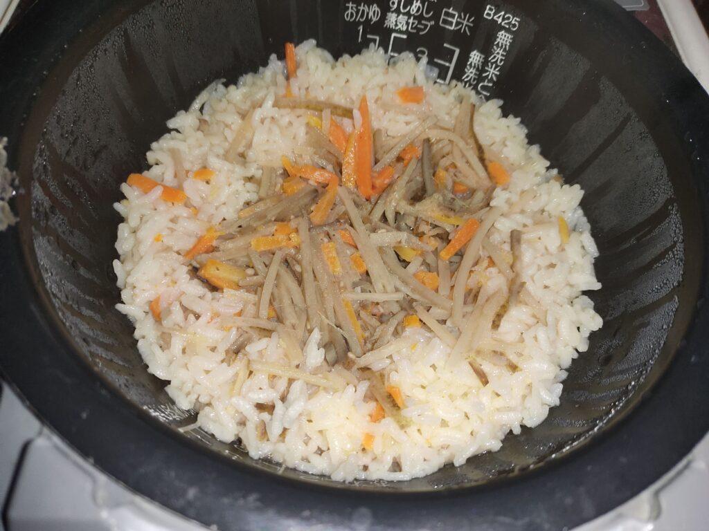 ゴボウ炊き込みご飯1