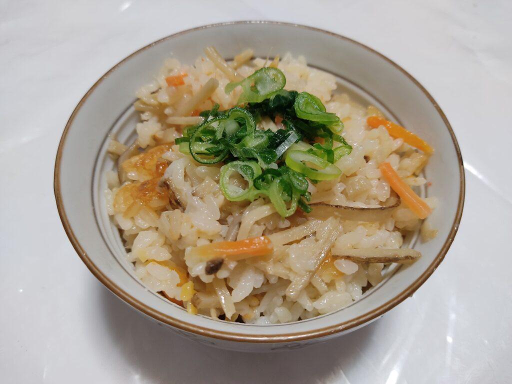 ゴボウ炊き込みご飯3